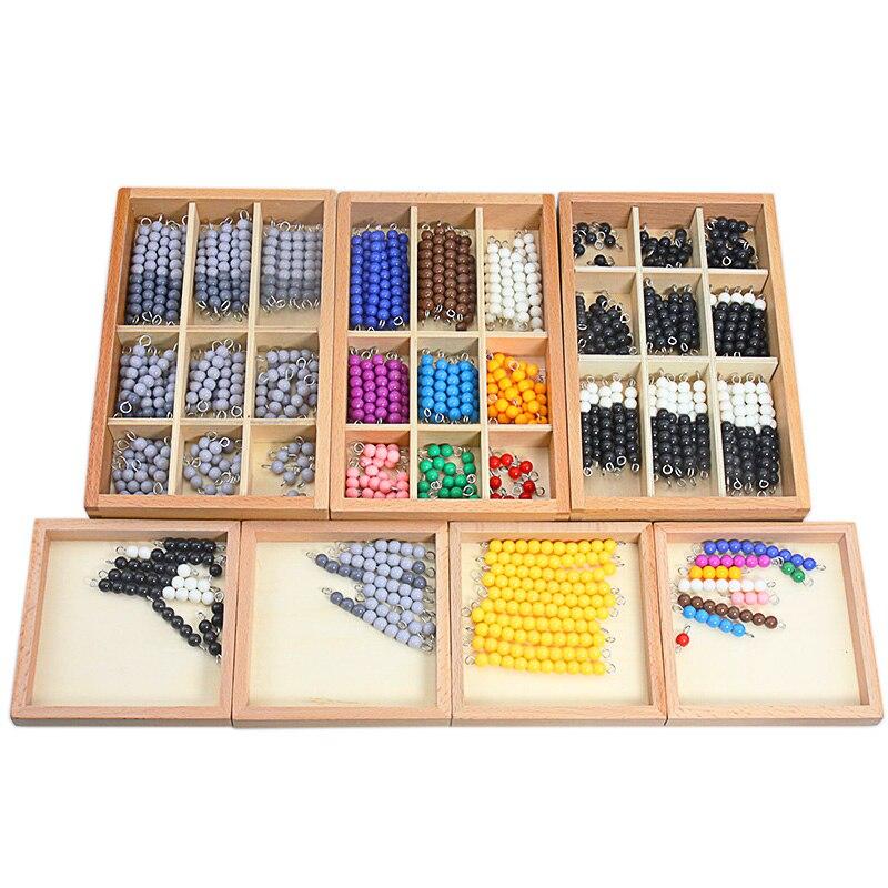 Montessori Wooden Checker Beads Board Colorful Black & White Grey Checker Board Beads Link Dragon & Reduce Dragon Game Baby Toys